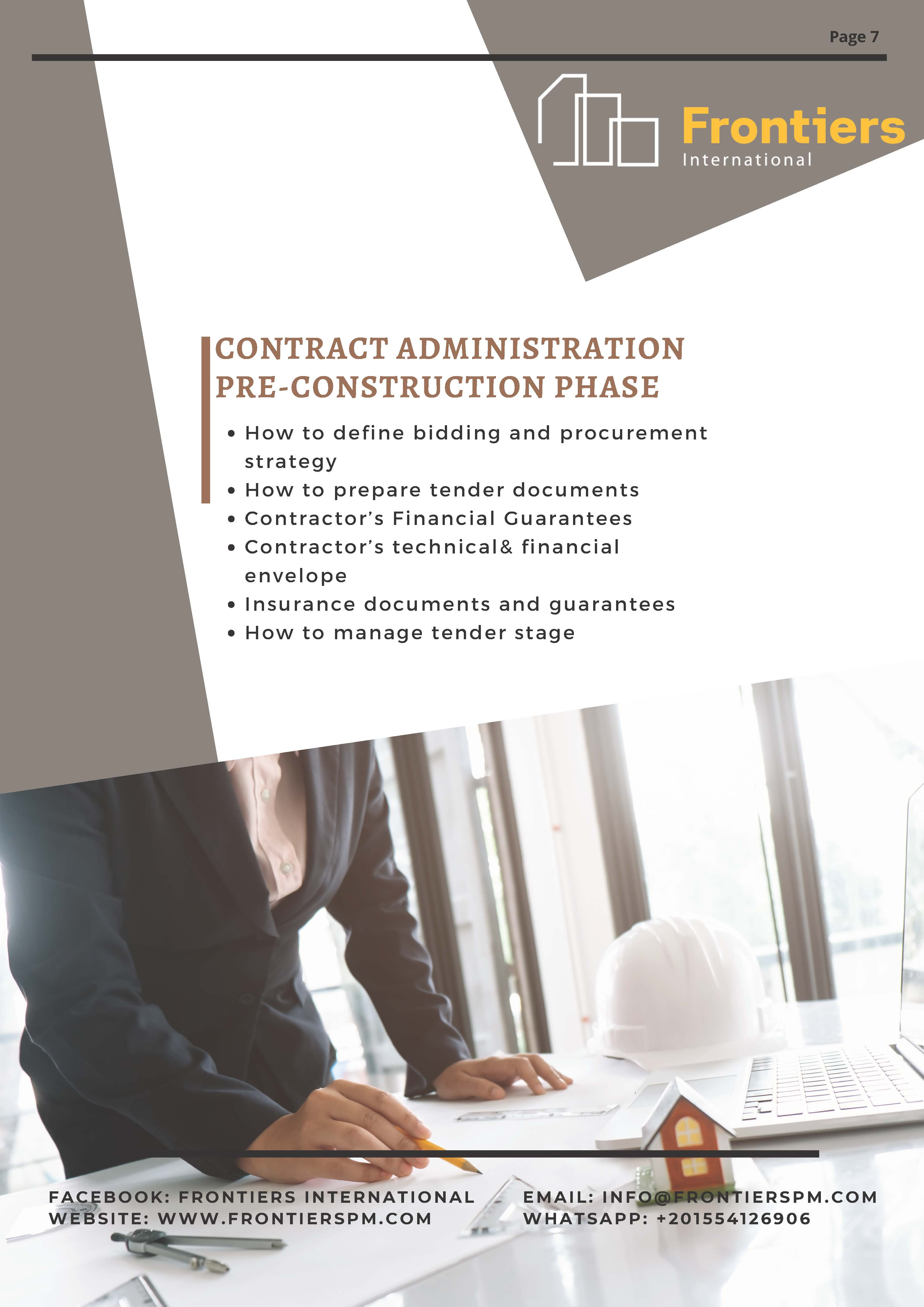 Contract Administration Pre-Construction Phase