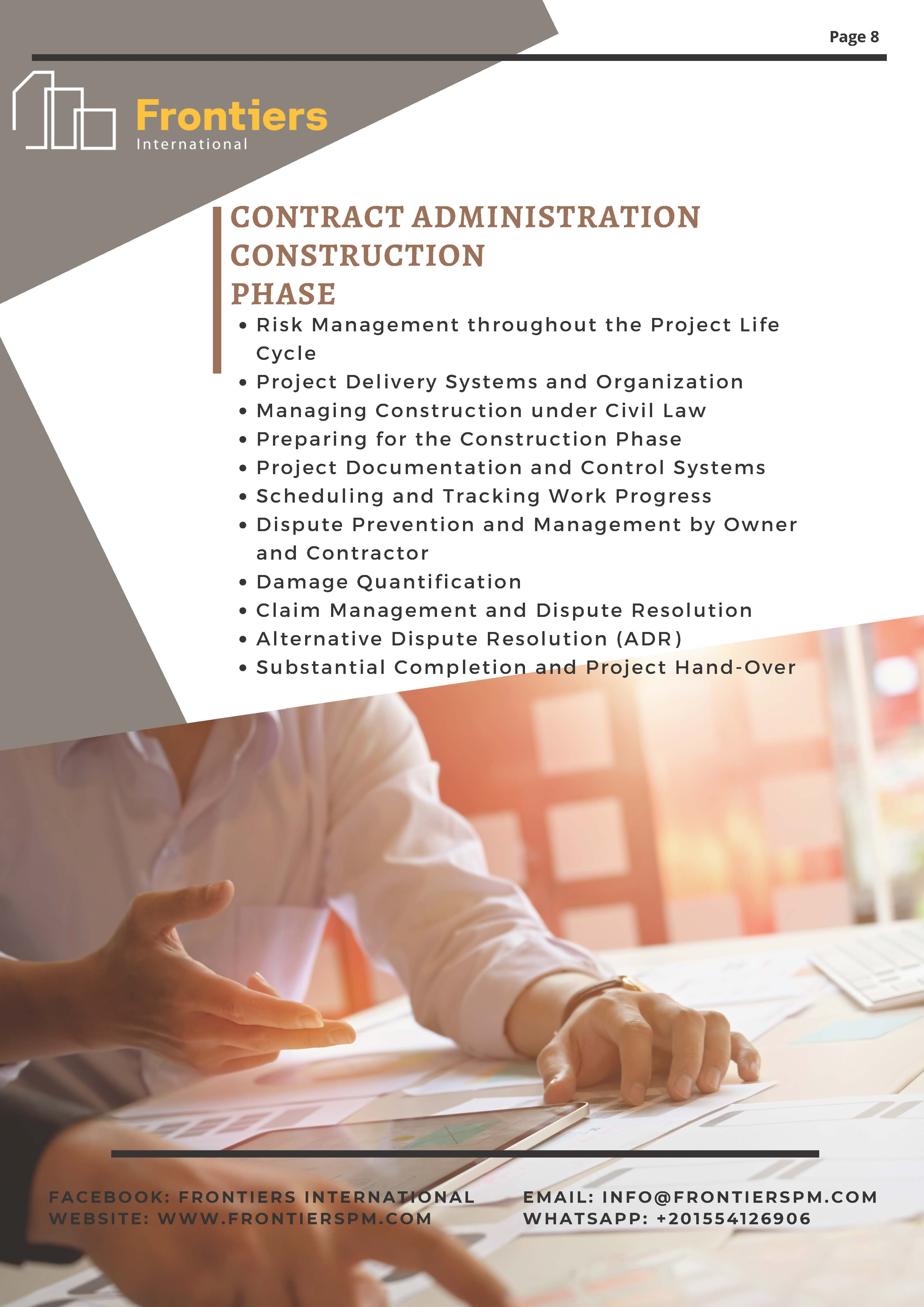 Contract Administration Construction Phase